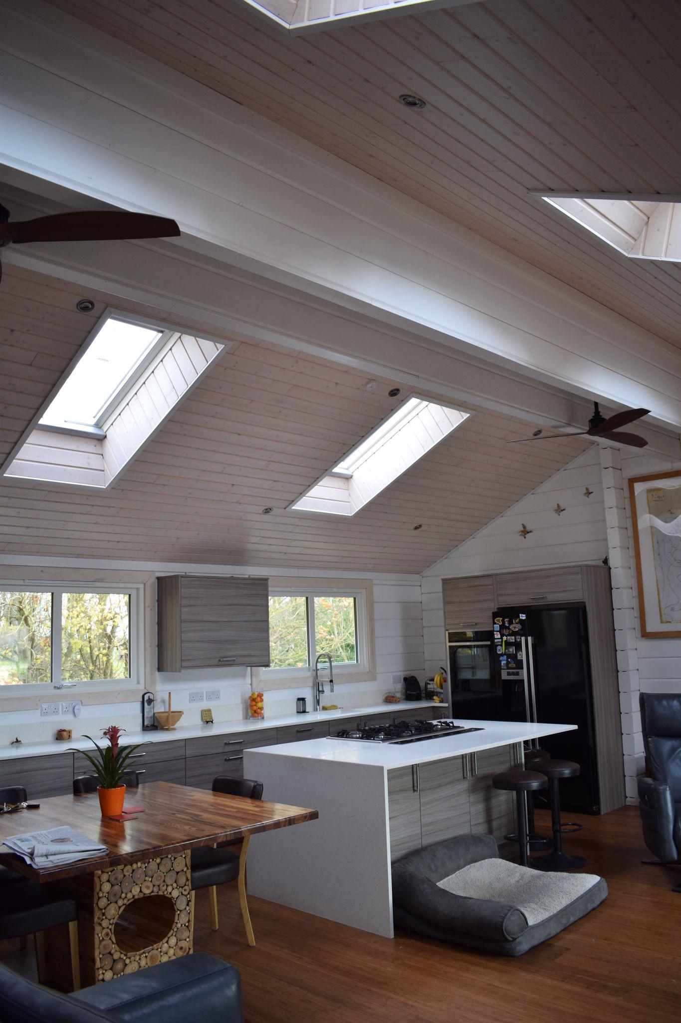 Roof Windows in Kitchen