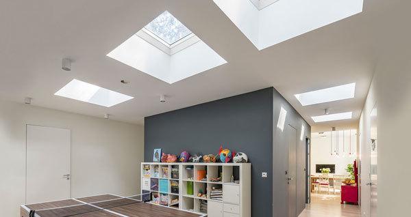 flat roof window room