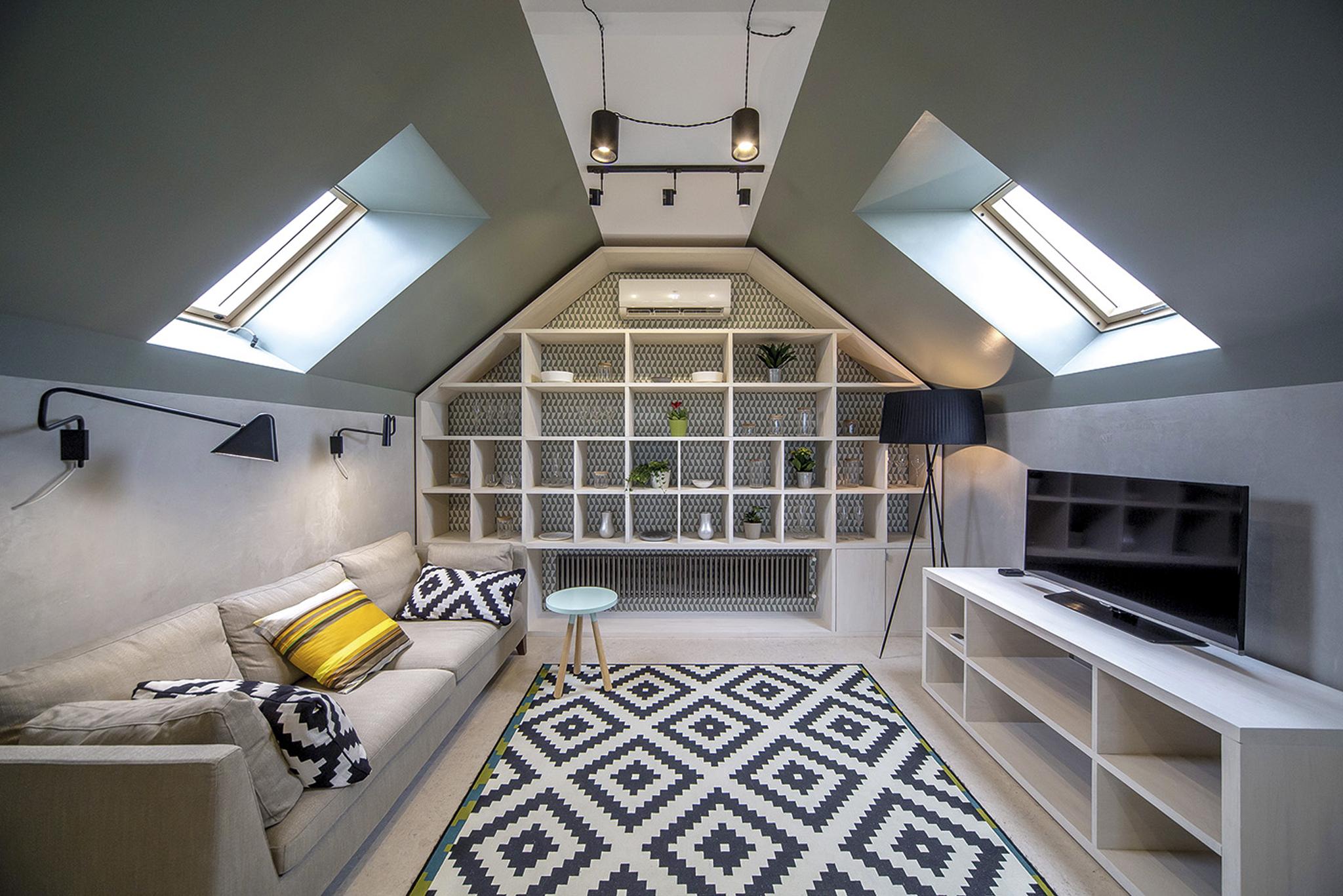 Centre pivot roof windows in loft conversion