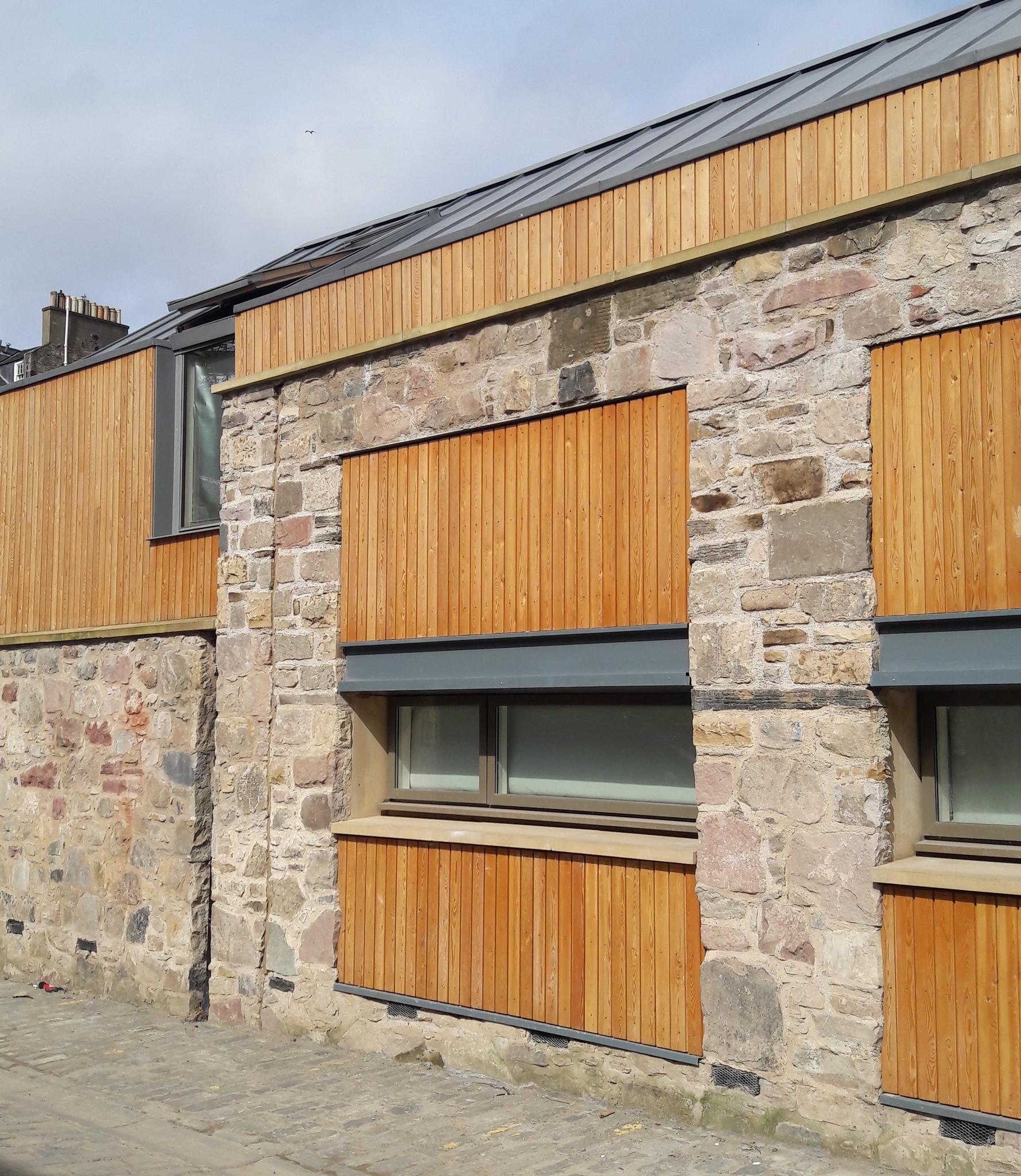 L-Shape combination window in university accommodation