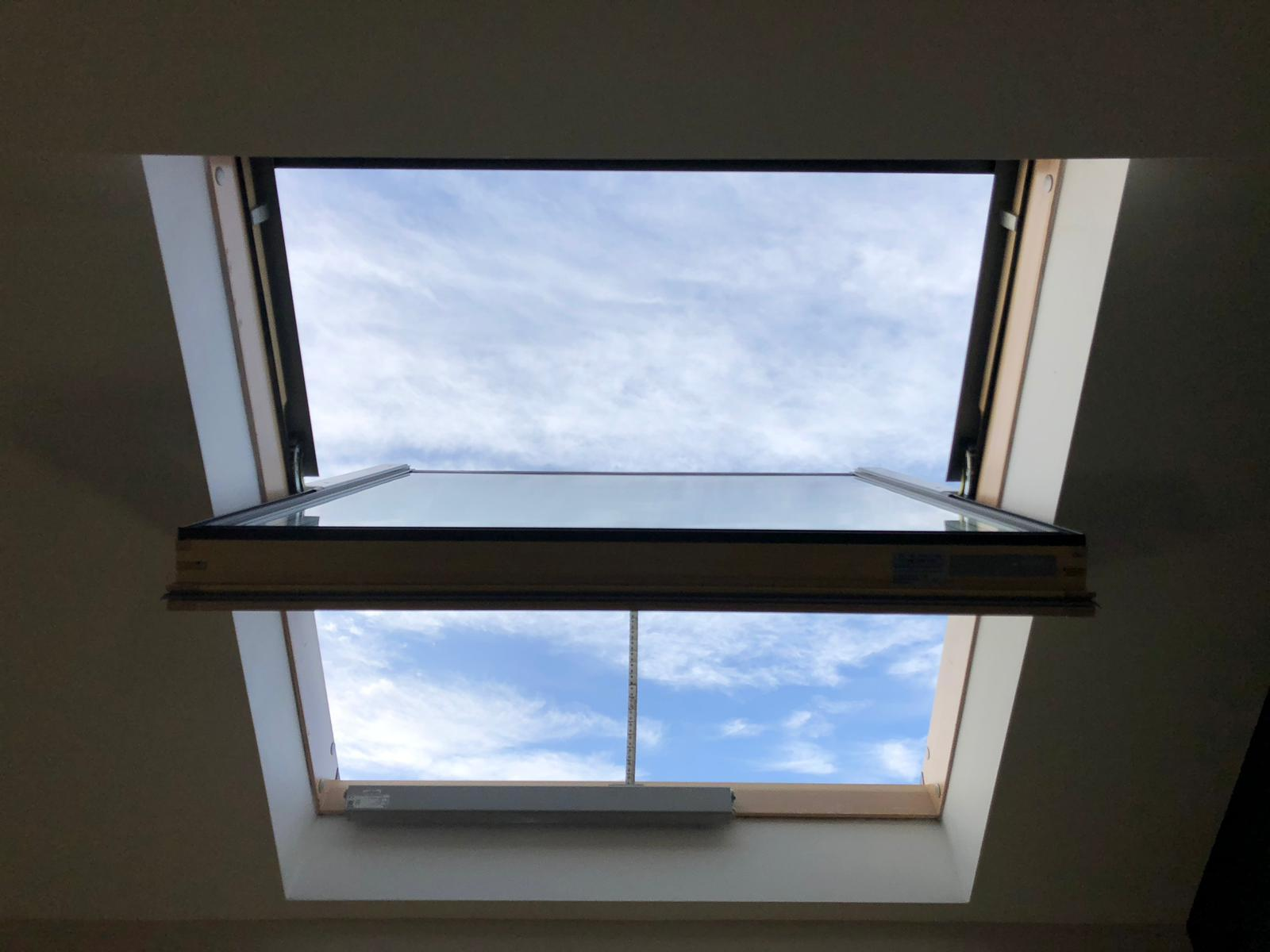 Smoke ventilation window in action