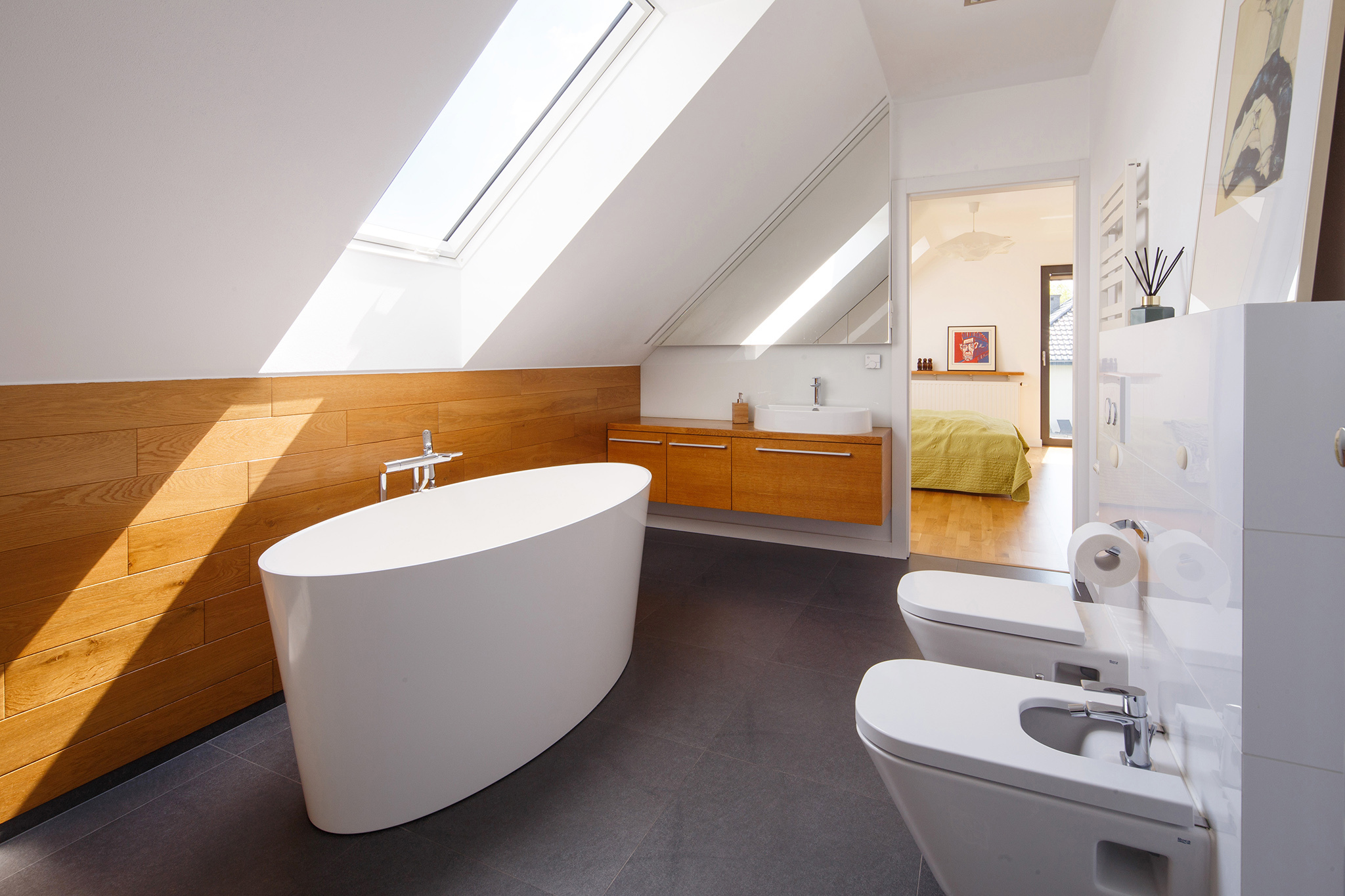 FAKRO roof window in bathroom