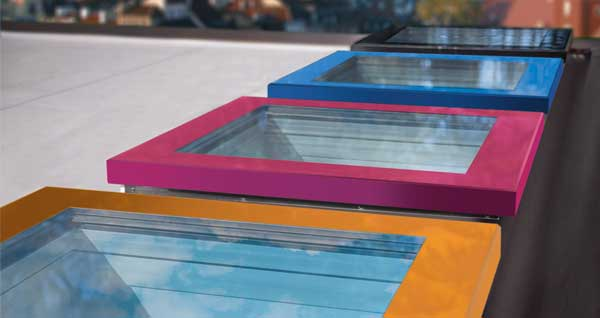 coloured roof windows