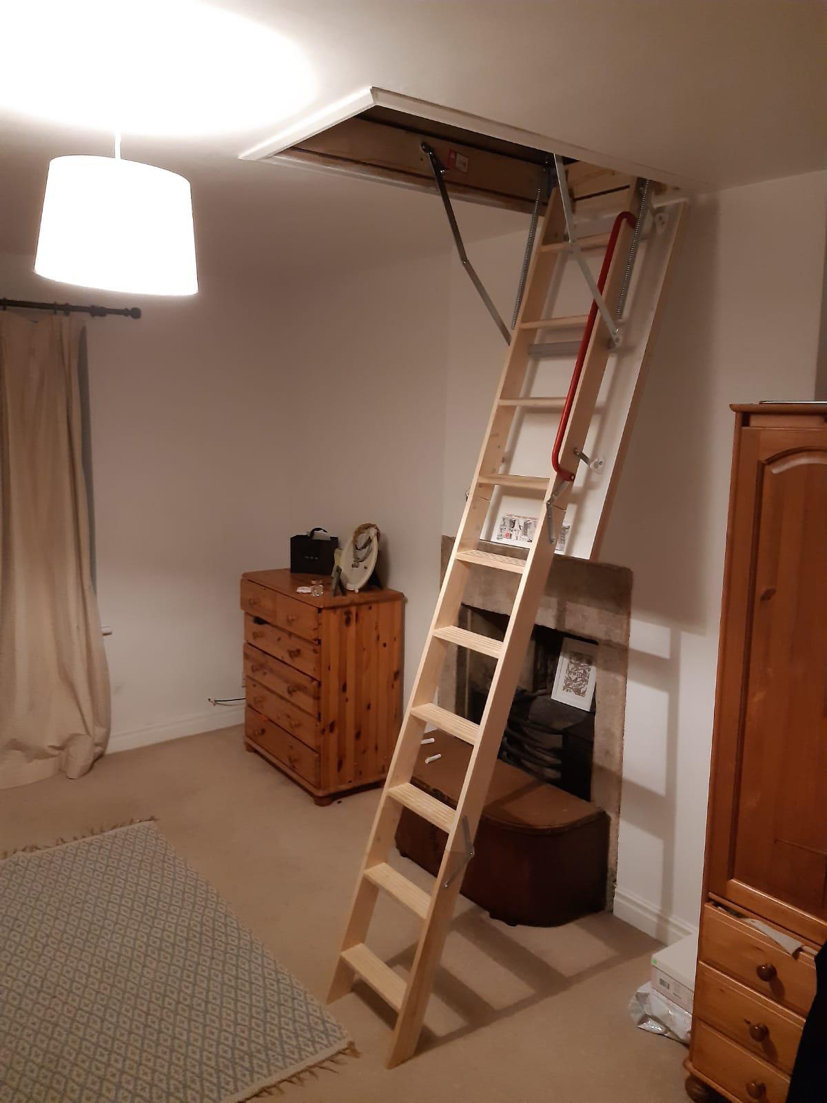 loft ladder in bedroom