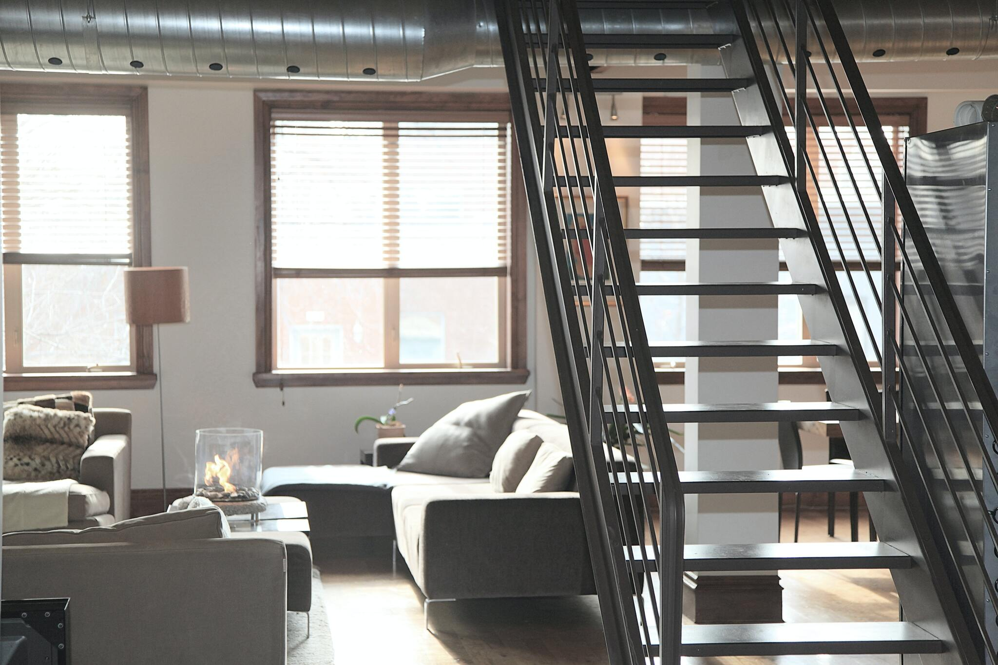 Stairs to a loft conversion in a flat