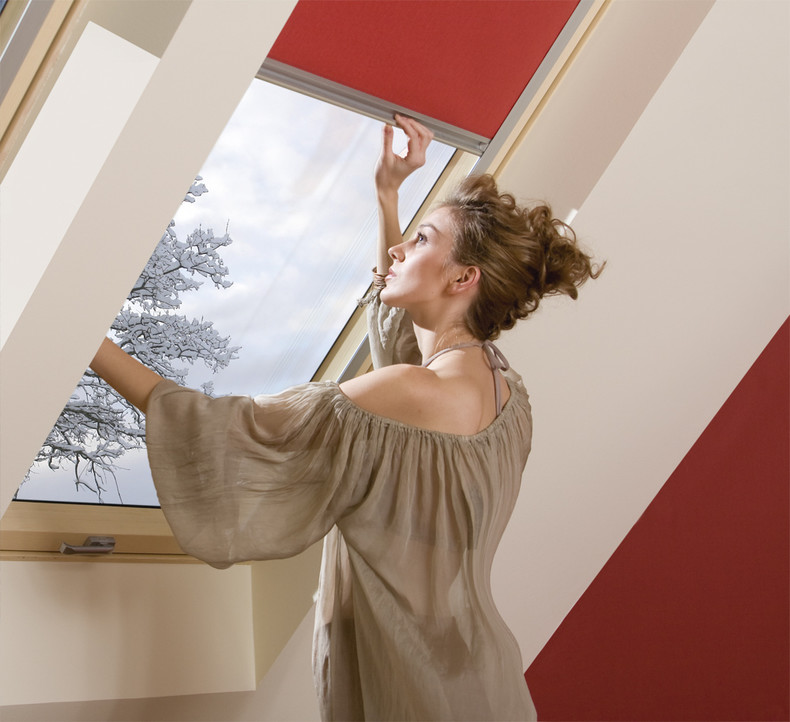 Roof window and blind
