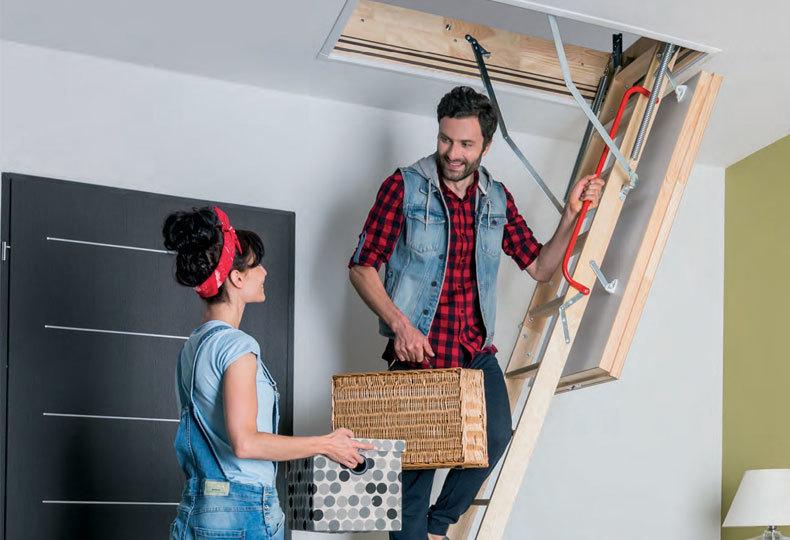 Installing loft ladders