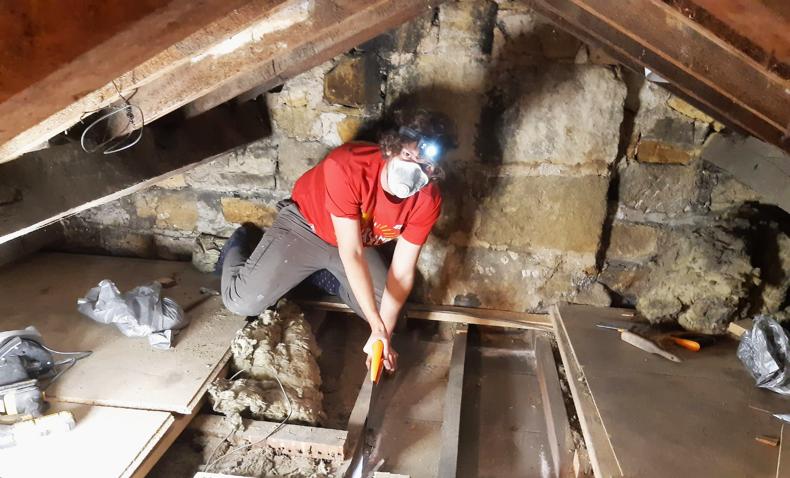 Loft ladder conversion in progress
