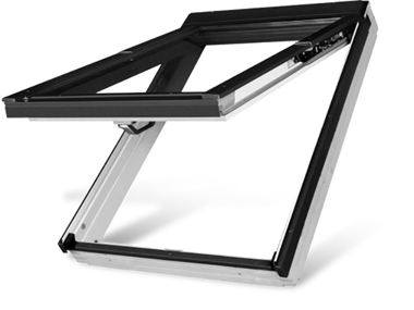 White Acrylic Top Hung Roof Windows