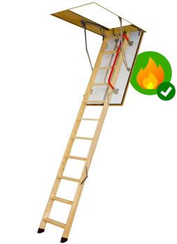 FAKRO Fire Resistant Wooden Loft Ladders - LWF