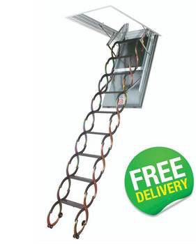 Fire Resistant Scissor Loft Ladders