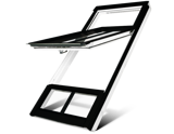 White high pivot window